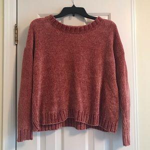Aerie crew neck chenille sweater